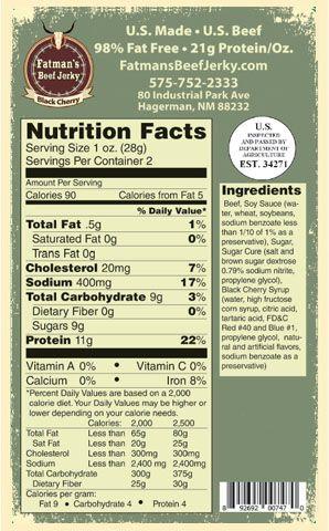 black cherry nutrition info